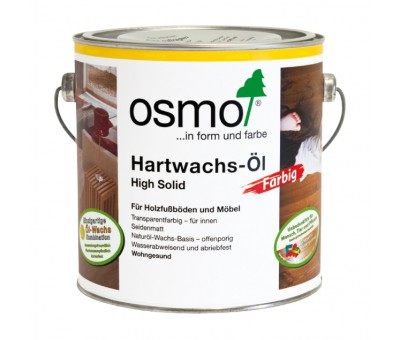 Масло с твердым воском ЦВЕТНОЕ Hartwachs-Öl Farbig