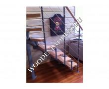 Установка готовой лестницы КП «Тихие Дали»