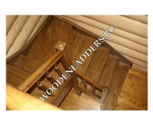 Деревянная лестница из ясеня СНТ «Абрамцево»