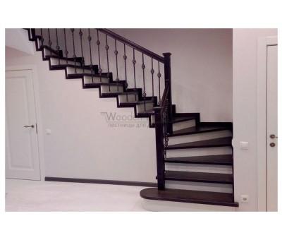 """""""Пучково"""" лестницы из массива ясеня"""