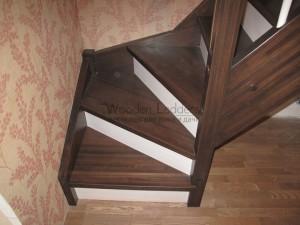 """Лестница из лиственницы СНТ """"Столбищево"""""""