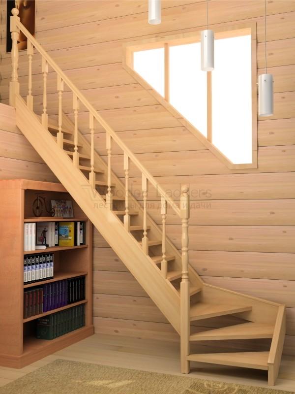 Лестницы для дачи на второй этаж своими руками